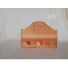 Percha en madera natural para pintar en casa