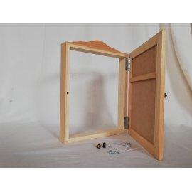 Cubre contador madera natural. Pintar en casa