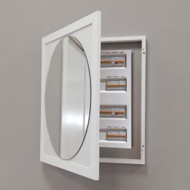 Espejo Cubrecontador Blanco