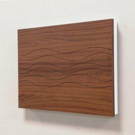 Cubre contador madera nogal y caja blanca