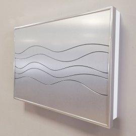 Cubre contador Aluminio plata OLAS con llavero