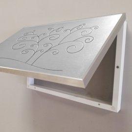 Cubre contador Aluminio Grabado Arbol
