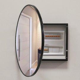 Cubre contador marco negro Espejo circulo