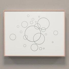 Tapa contador Blanco y Oro rosa - Burbujas