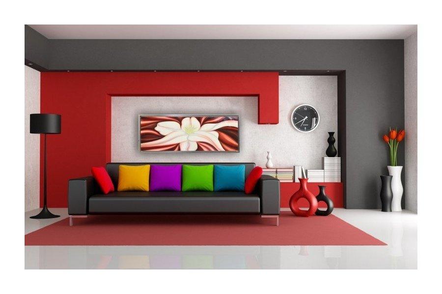 Cuadro lirio con rojo y marco plata emilio rubio - Cuadros y marcos ...
