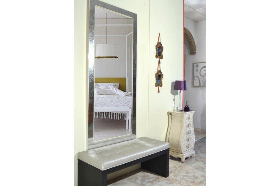 Espejo marco plata brillo - Emilio Rubio