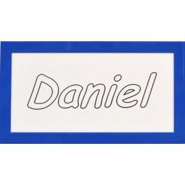 Cuadro con nombre grabado - marco azul