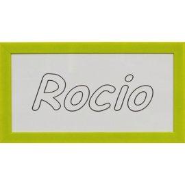 Cuadro con nombre grabado - marco pistacho