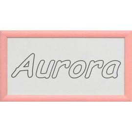Cuadro con nombre grabado - marco rosa