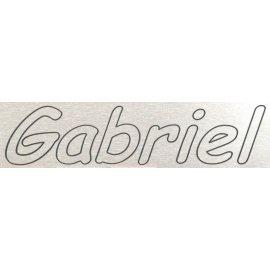 Placa aluminio con tu nombre grabado