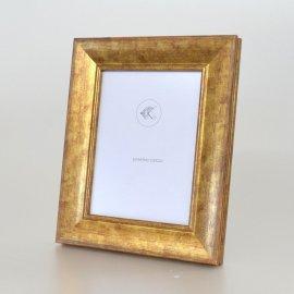 Portafotos madera decorado oro