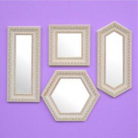 Set 4 espejos marco estilo Isabelino