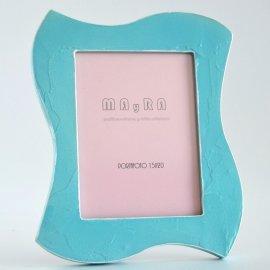 Marco portafotos azul turquesa
