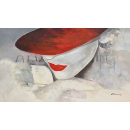 Cuadro Chica con sombrero rojo