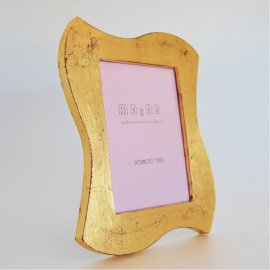 Portafotos moderno dorado