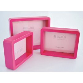Portafotos fucsia tipo caja