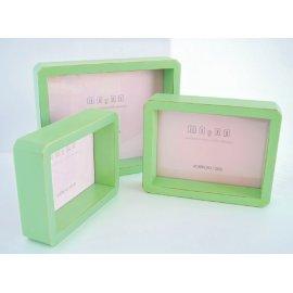Portafotos verde manzana tipo caja