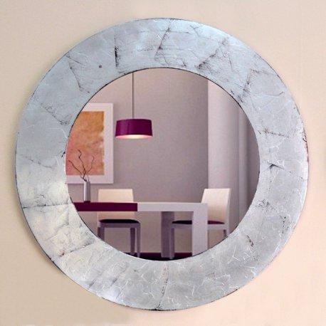 Espejo circulo marco plateado - Espejos marco plateado ...