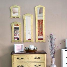 Espejo clásico marco dorado