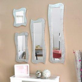 Espejo marco plateado moderno