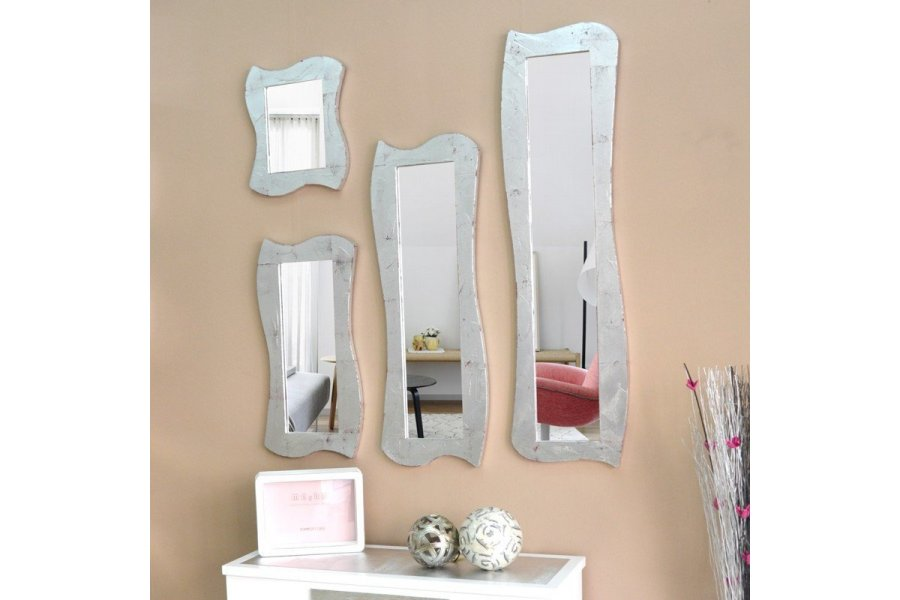 Espejo marco plateado for Espejos grandes sin marco