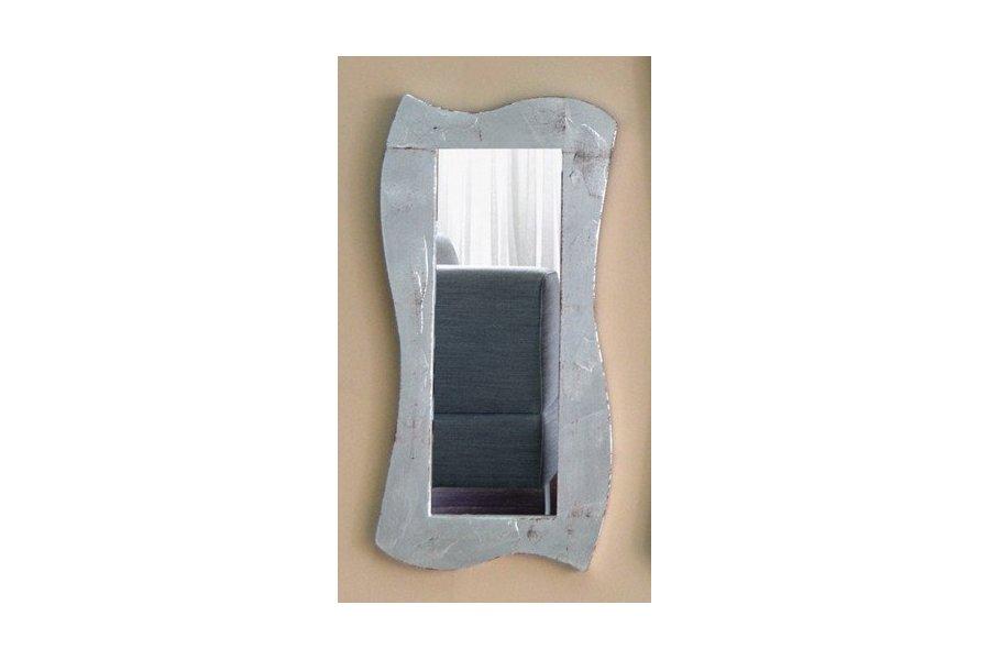 Espejo marco plateado moderno emilio rubio for Espejo vintage plateado