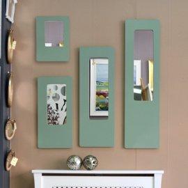 Espejo U verde seco