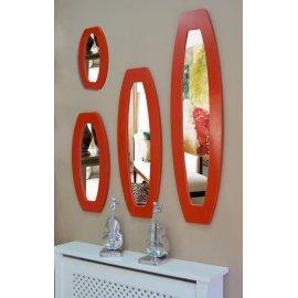 Espejo O marco rojo decape