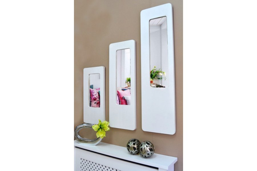 Espejo u marco blanco decap emilio rubio for Espejo pared marco blanco