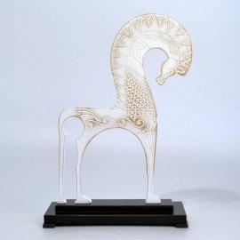 Escultura caballo Griego - Blanco