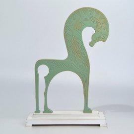 Escultura Caballo Griego - Oxido